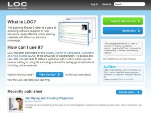 LOC website home page screenshot