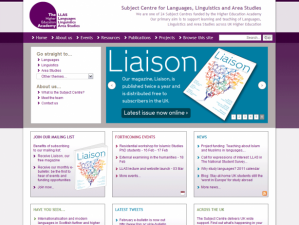 LLAS Home page screenshot
