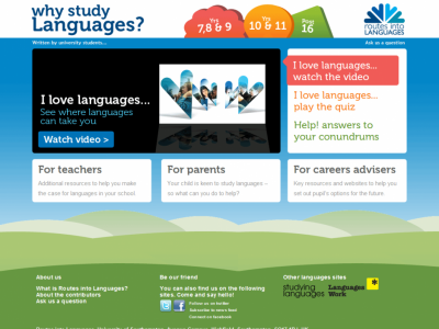 Why study languages home page
