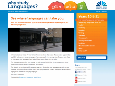 Why study languages HTML 5 video
